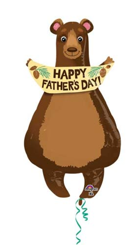Fathers Day Bear Supershape Balloons