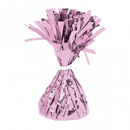 Pink Fringed Foil Balloon Weights 6oz