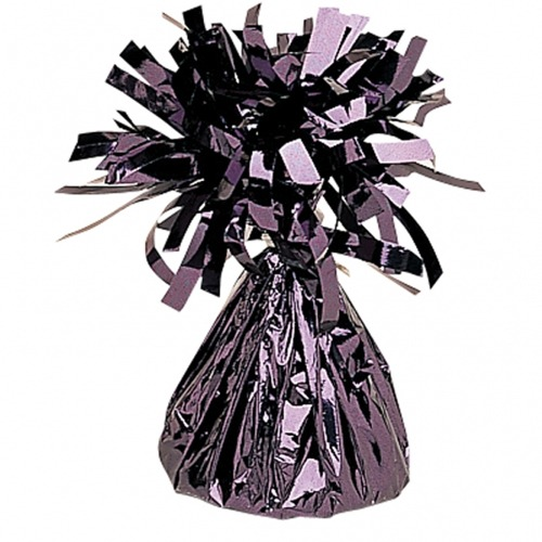 Black Fringed Foil Balloon Weights 6oz