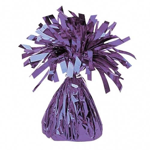 Purple Fringed Foil Balloon Weights 6oz