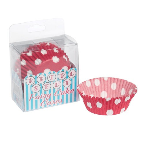 Red and White Polka Dot Fairy Cake Cases x72