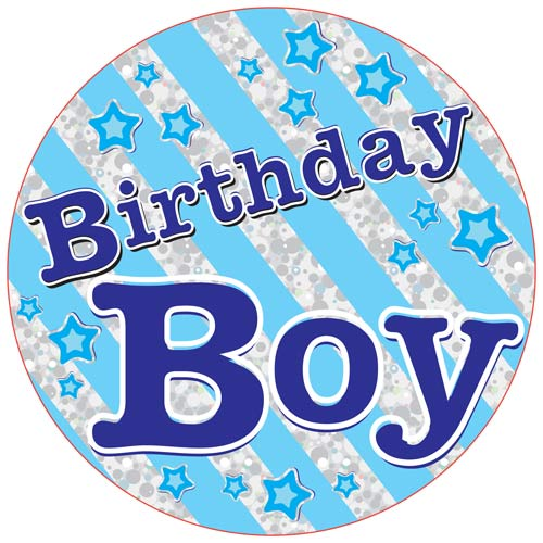 Birthday Boy Giant Party Badge