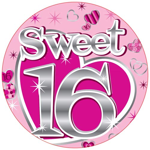 Sweet 16 Giant Party Badge