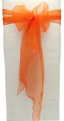 Orange Organza Chair Sash x5