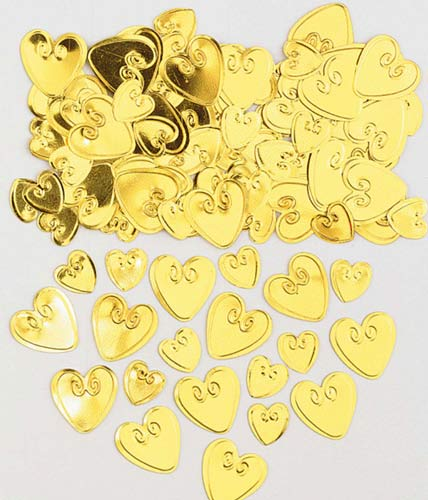 Gold Loving Hearts Metallic Confetti