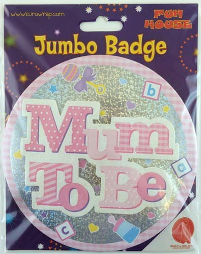 Pink Mum To Be Badge