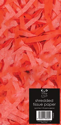 Neon Orange Shredded Tissue Paper