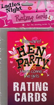 Ladies Hen Night Party Rating Cards
