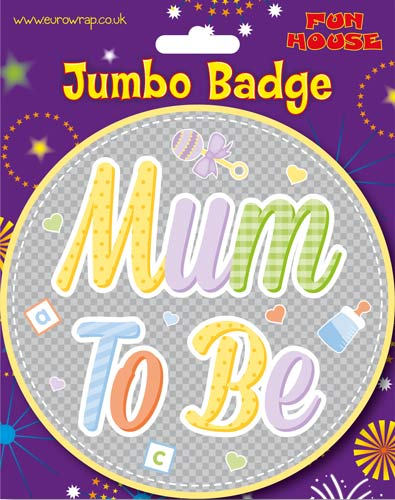 Mum To Be Big Badge