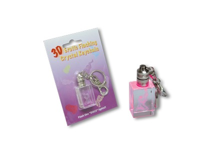 3D Erotic Flashing Crysal Keychain Blow Job Couple