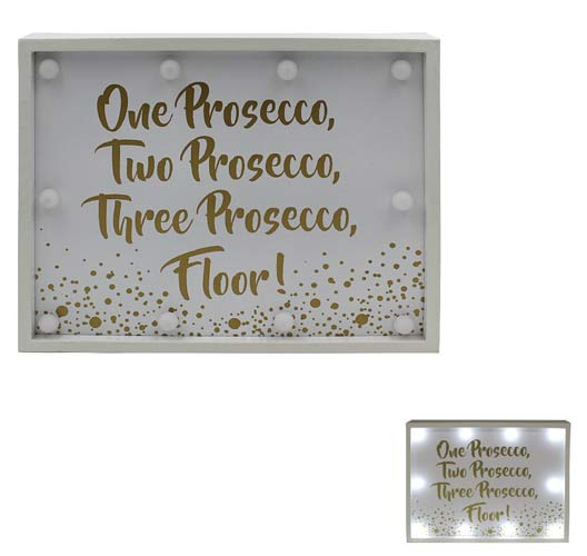Prosecco Floor LED Sign