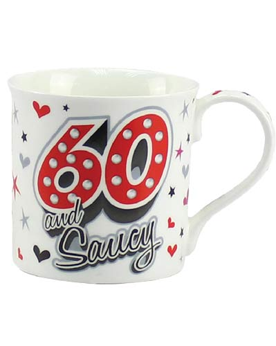 60 And Saucy Fine China Mug