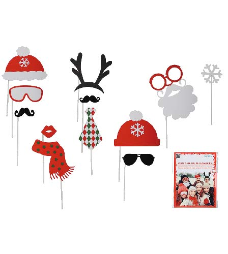 Christmas Party Photo Props 12pc
