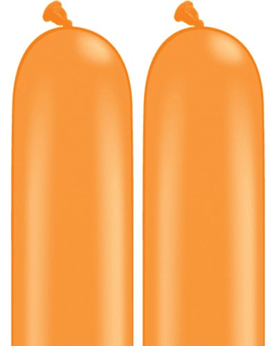 350Q Orange Modelling Balloons 100pk