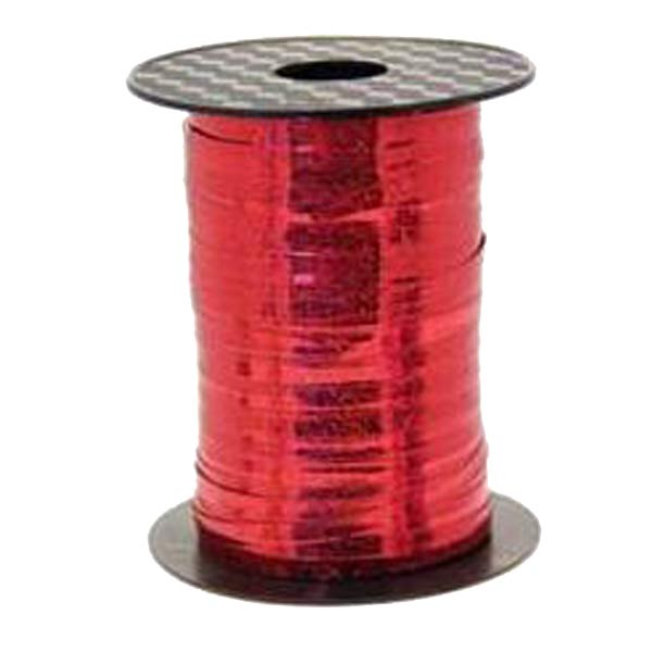 Metallic Holographic Red Curling Ribbons 250m