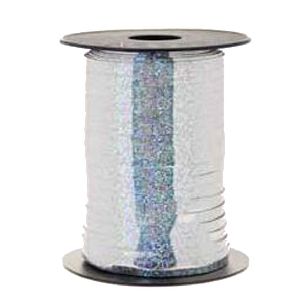 Metallic Holographic Silver Curling Ribbons 250m