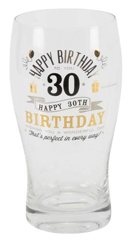 30th Birthday Pint Glass