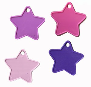 Star Shaped Weights Pastel Assortment x100